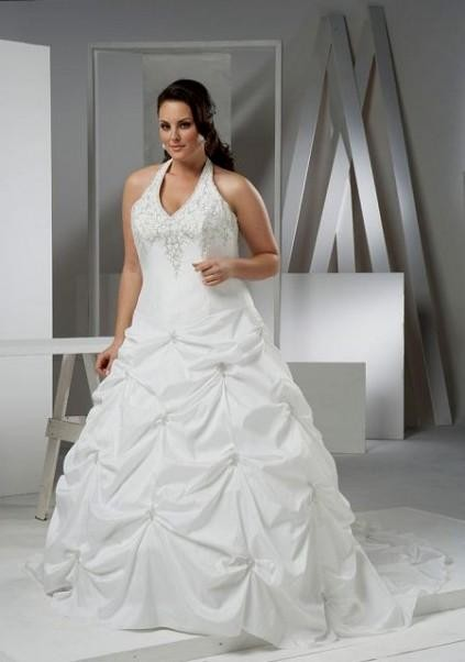 halter wedding dresses for plus size women 2016-2017 | B2B Fashion