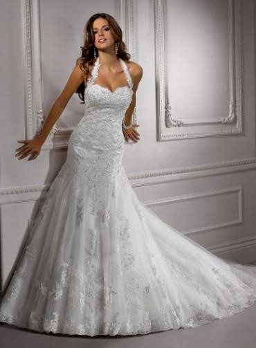 Halter Wedding Dresses For Plus Size Women 2016 2017 B2b Fashion