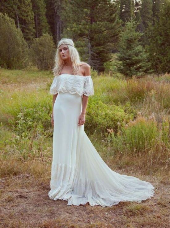 Hippie beach wedding dress 2016 2017 b2b fashion for Hippie style wedding dresses