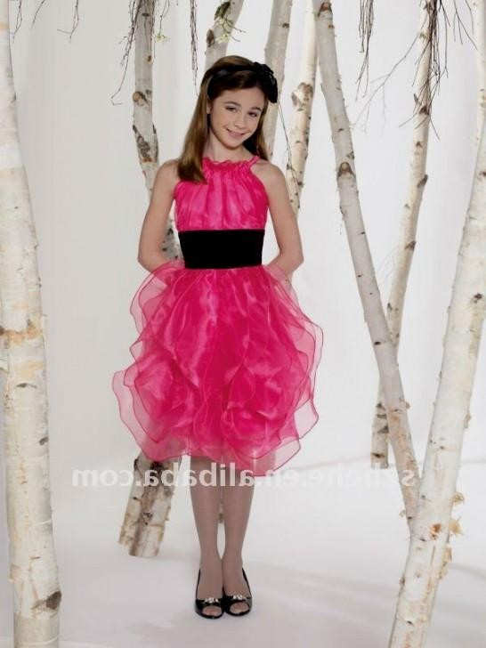 "hot pink and black flower girl dresses 2016-2017 "" B2B Fashion"
