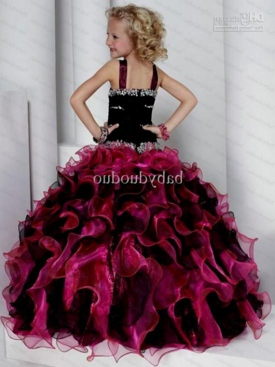 hot pink and black flower girl dresses 20162017 b2b fashion