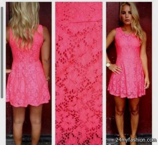 Hot Pink Lace Dress Looks B2b Fashion