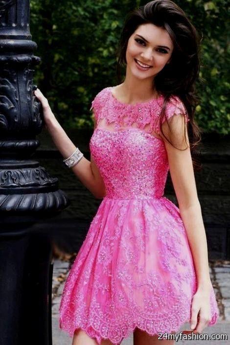 hot pink lace dress 2016-2017 | B2B Fashion