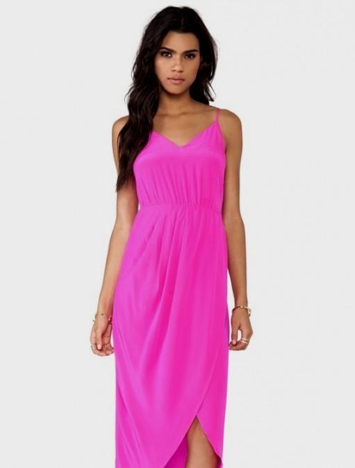 hot pink maxi dress 2016-2017 » B2B Fashion