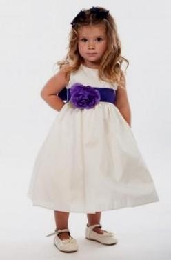 Ivory flower girl dresses with purple sash 2016 2017 b2b fashion you can share these ivory flower girl dresses with purple sash on facebook stumble upon my space linked in google plus twitter and on all social mightylinksfo Choice Image