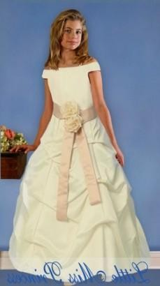 Ivory flower girl dresses with sleeves 2017