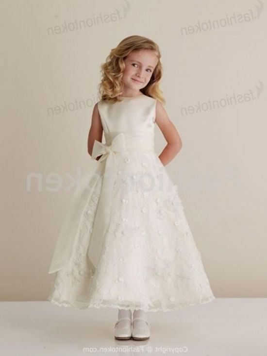 Ivory Lace Flower Girl Dresses 2016 2017 B2b Fashion