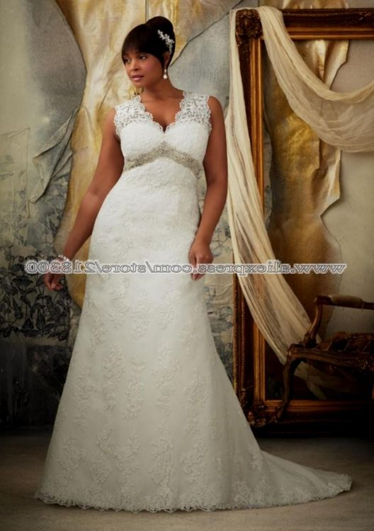 Ivory Lace Wedding Dress Plus Size 2016 2017