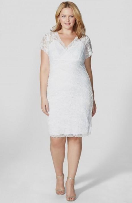 Ivory Lace Dress Plus Size - Dress