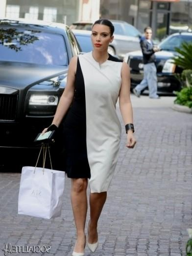 kim kardashian black and white dress 2016-2017 » B2B Fashion