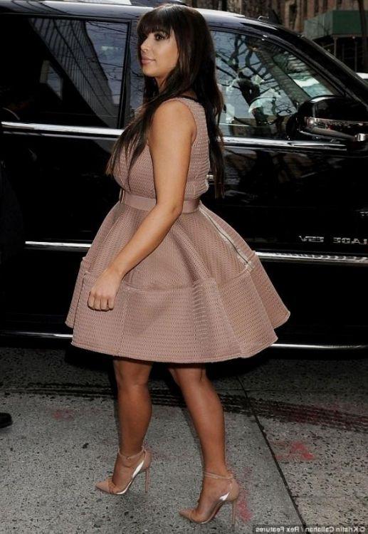 Kim Kardashian Black And White Dress