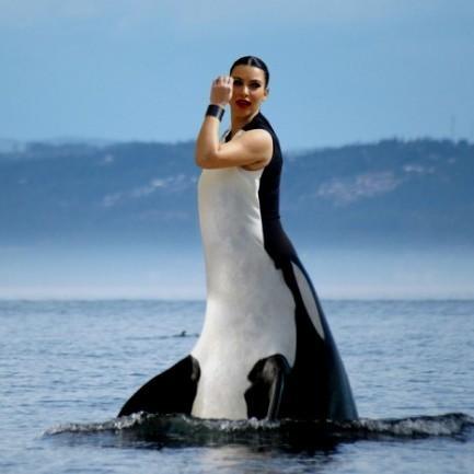 kim kardashian black and white dress whale 2016 2017 b2b
