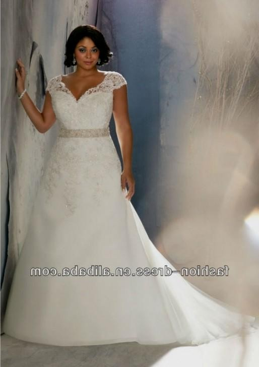 lace cap sleeve plus size wedding dress 20162017 b2b
