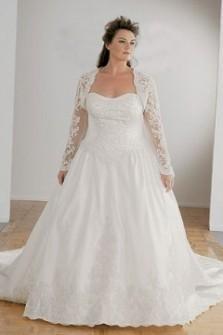 Lace cap sleeve plus size wedding dress 2016 2017 b2b for Adding cap sleeves to a wedding dress