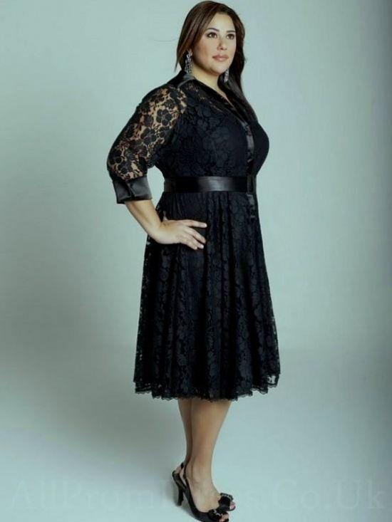 Amazing Plus Size Black Dresses For Weddings Embellishment - Womens ...