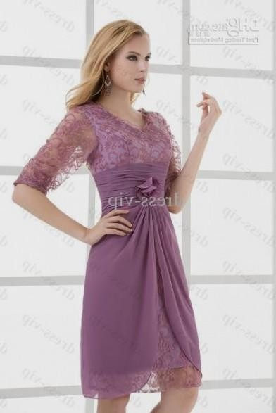 lavender bridesmaid dresses with lace sleeves 2016-2017 » B2B Fashion
