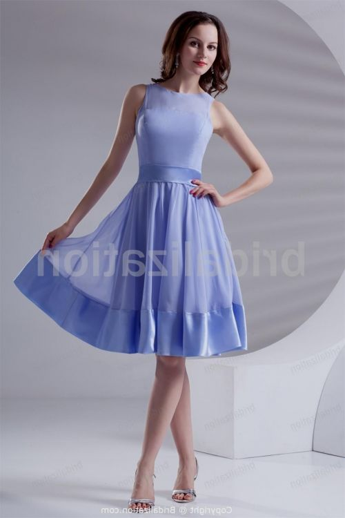 Chiffon Knee Length Dresses