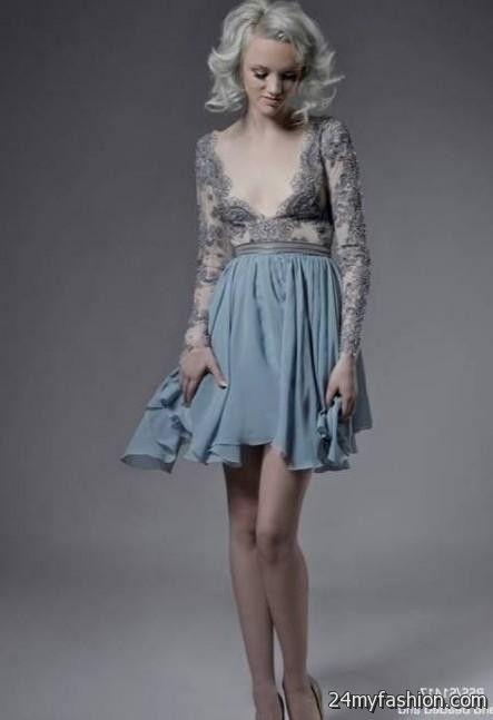 Light Blue Lace Cocktail Dress Looks B2b Fashion