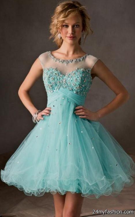 light blue lace cocktail dress 2016-2017 | B2B Fashion