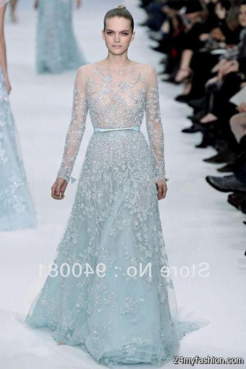 light blue lace dress with sleeves 2016-2017 | B2B Fashion