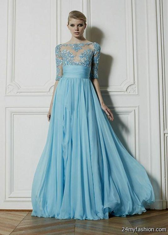 light blue lace dress with sleeves 2016-2017 » B2B Fashion