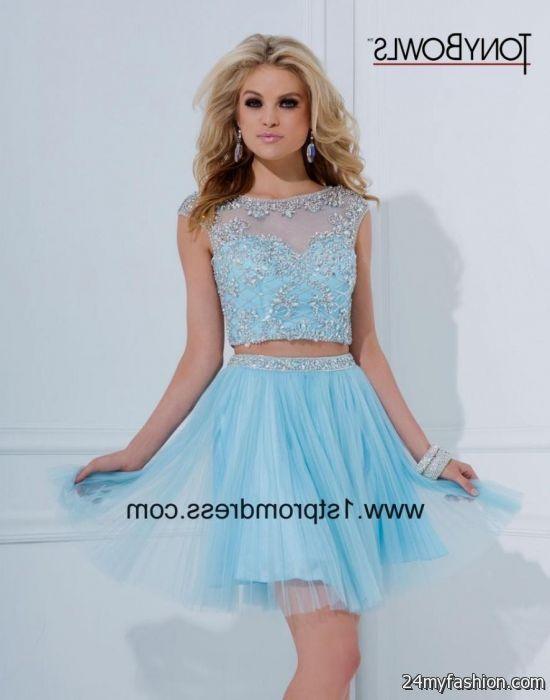 Light Blue Short Prom Dresses