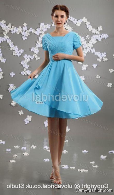 Light Blue Summer Dress With Sleeves Looks B2b Fashion