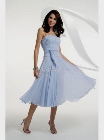 light blue wedding dress tea length 2016-2017 » B2B Fashion