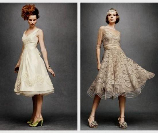 Light blue wedding dress tea length