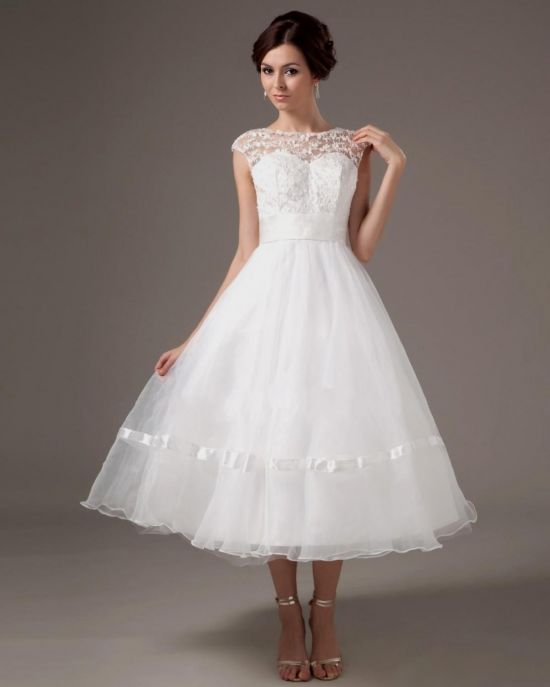 light blue wedding dress tea length 20162017 b2b fashion