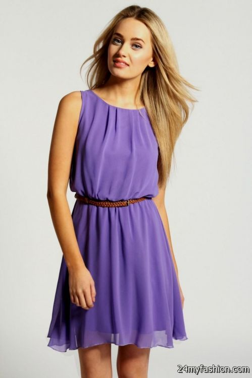 purple casual dresses - Dress Yp