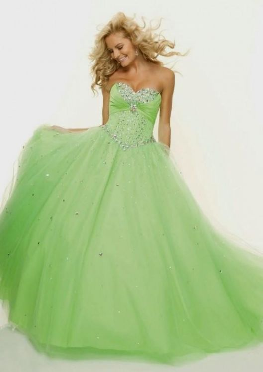Lime Green Quinceanera Dresses