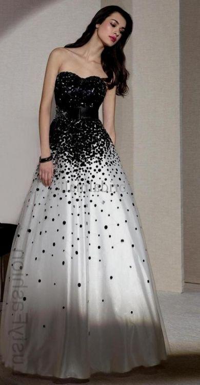 Long Black And White Prom Dresses Looks B2b Fashion