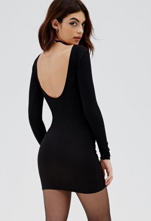 long sleeve black bodycon dress forever 21 20162017 b2b