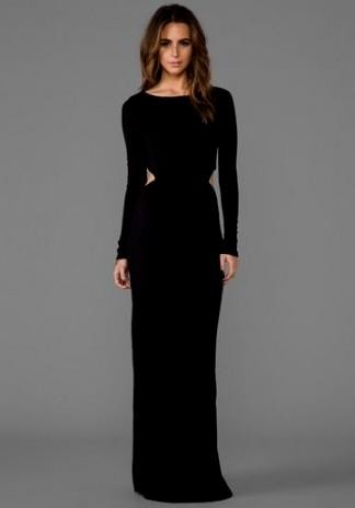 long sleeve black maxi dress 2016-2017 » b2b fashion