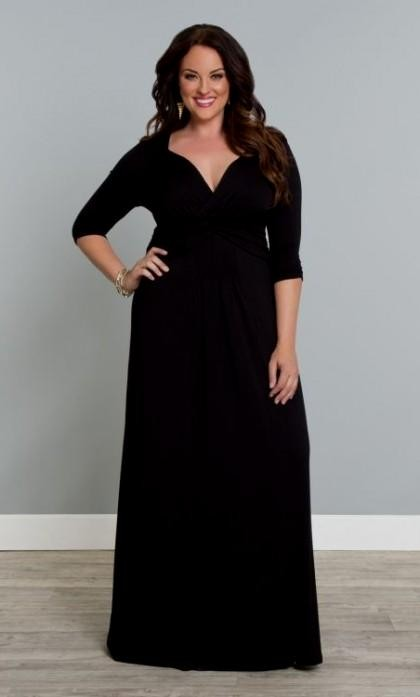 long sleeve black maxi dress plus size 2016-2017 » B2B Fashion
