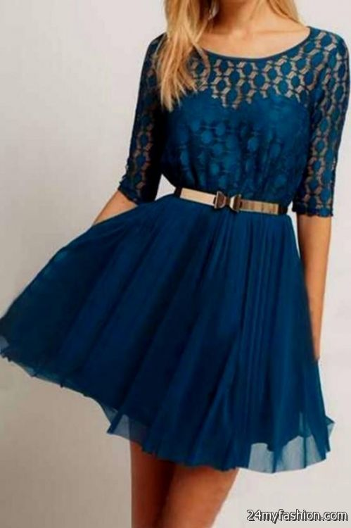 Casual long sleeved dresses for juniors