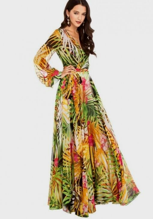 Long Sleeve Chiffon Maxi Dress 2016 2017 B2b Fashion
