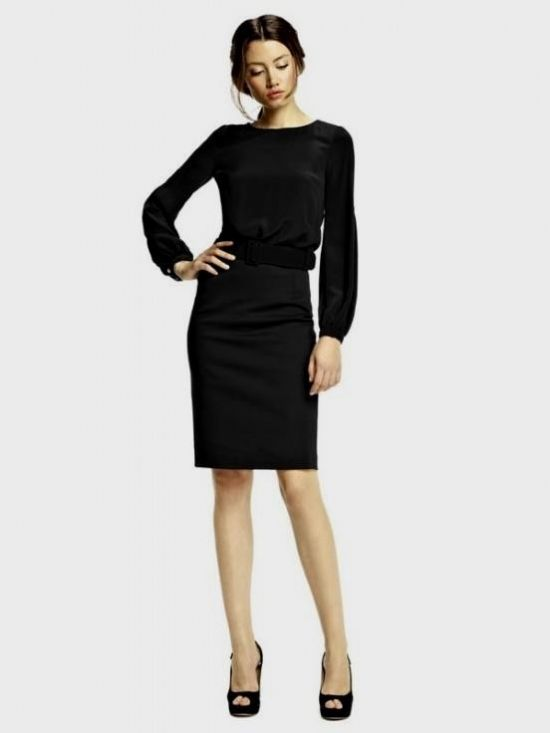 long sleeve dresses knee length 2016-2017 » B2B Fashion
