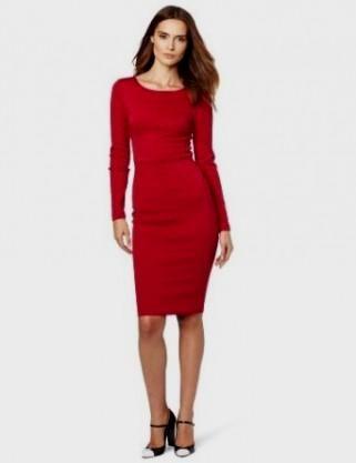 Long Sleeve Fitted Dress - Qi Dress