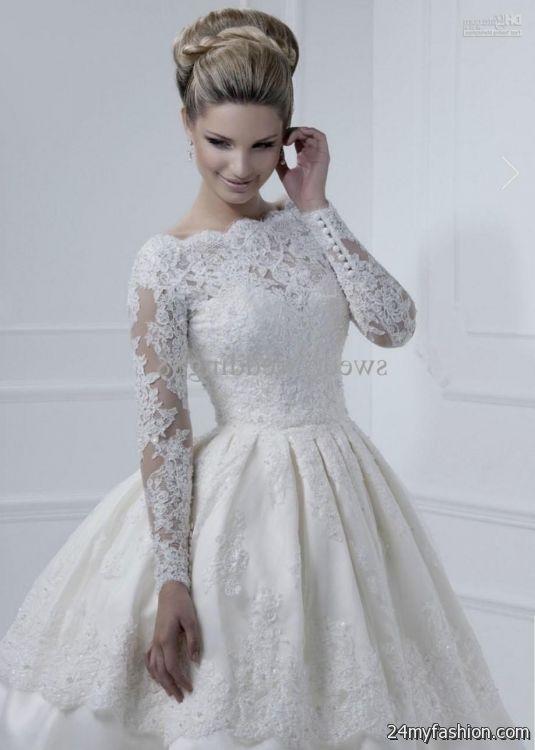 Long Sleeve Short Wedding Dresses Looks B2b Fashion