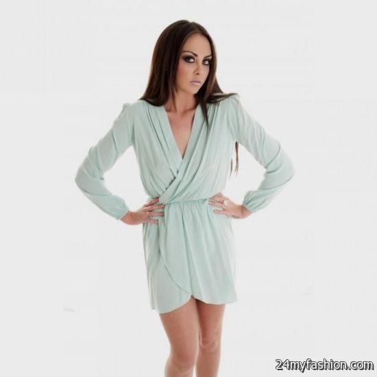long sleeve short wrap dress 2016-2017 » B2B Fashion