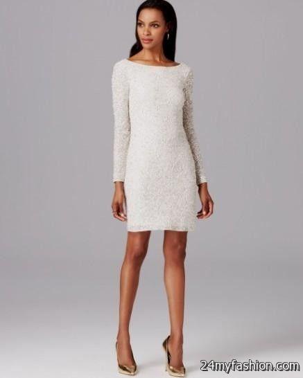 White short long sleeve mini dress
