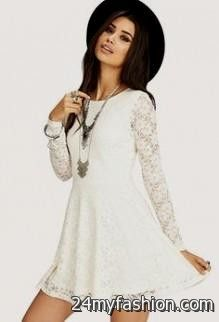b871c71179 ... long sleeve white lace dress forever 21 looks B2B Fashion