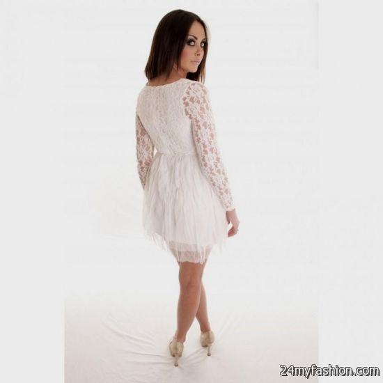 bc4d39d9ddca Shop the latest short sleeve mini dresses on the world's largest fashion  site. You can share these long sleeve white lace dress forever 21 on  Facebook ...