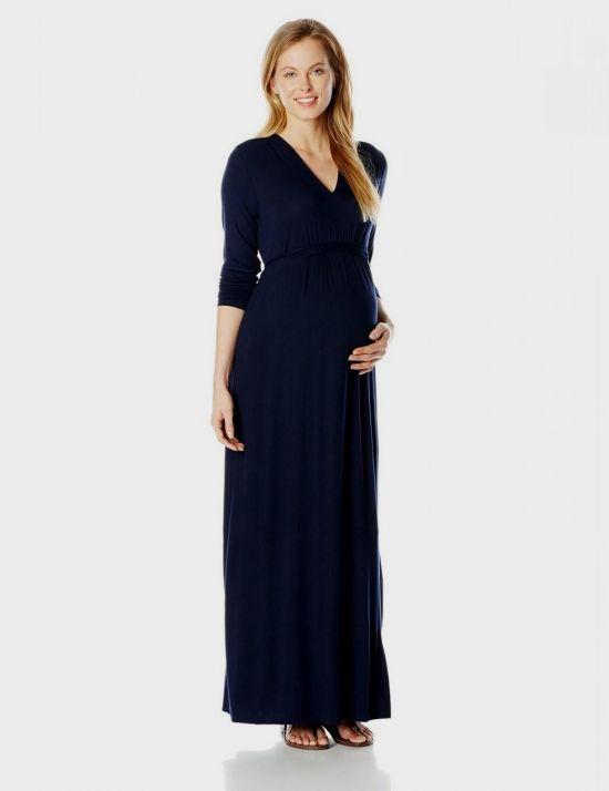 Long Sleeve Wrap Maxi Dress Maternity 2016-2017 | B2B Fashion