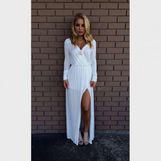 white long sleeve maternity dress | Gommap Blog