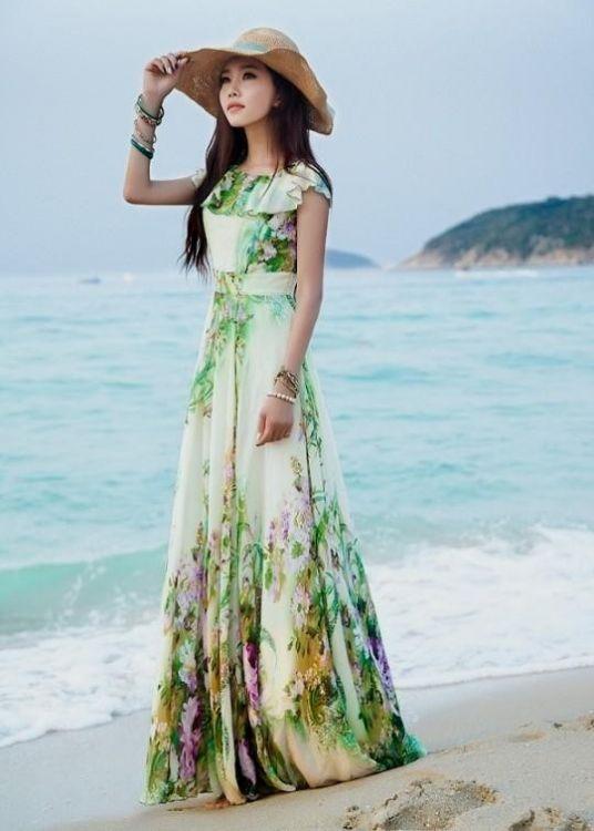 Images of Long Summer Dress - Reikian