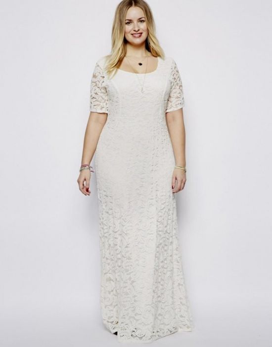 Long White Plus Size Dresses