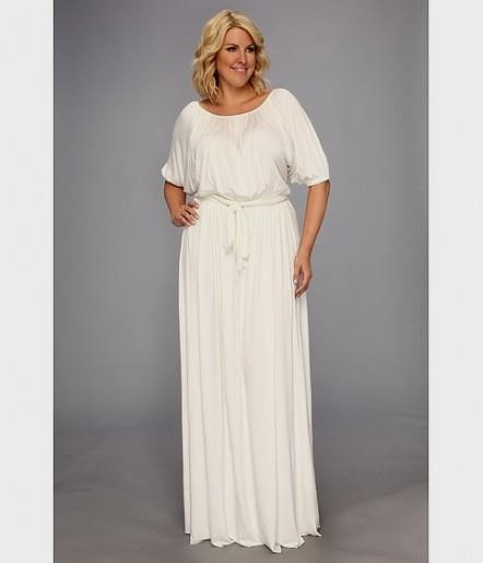 long sleeve white dress plus size - Sizing